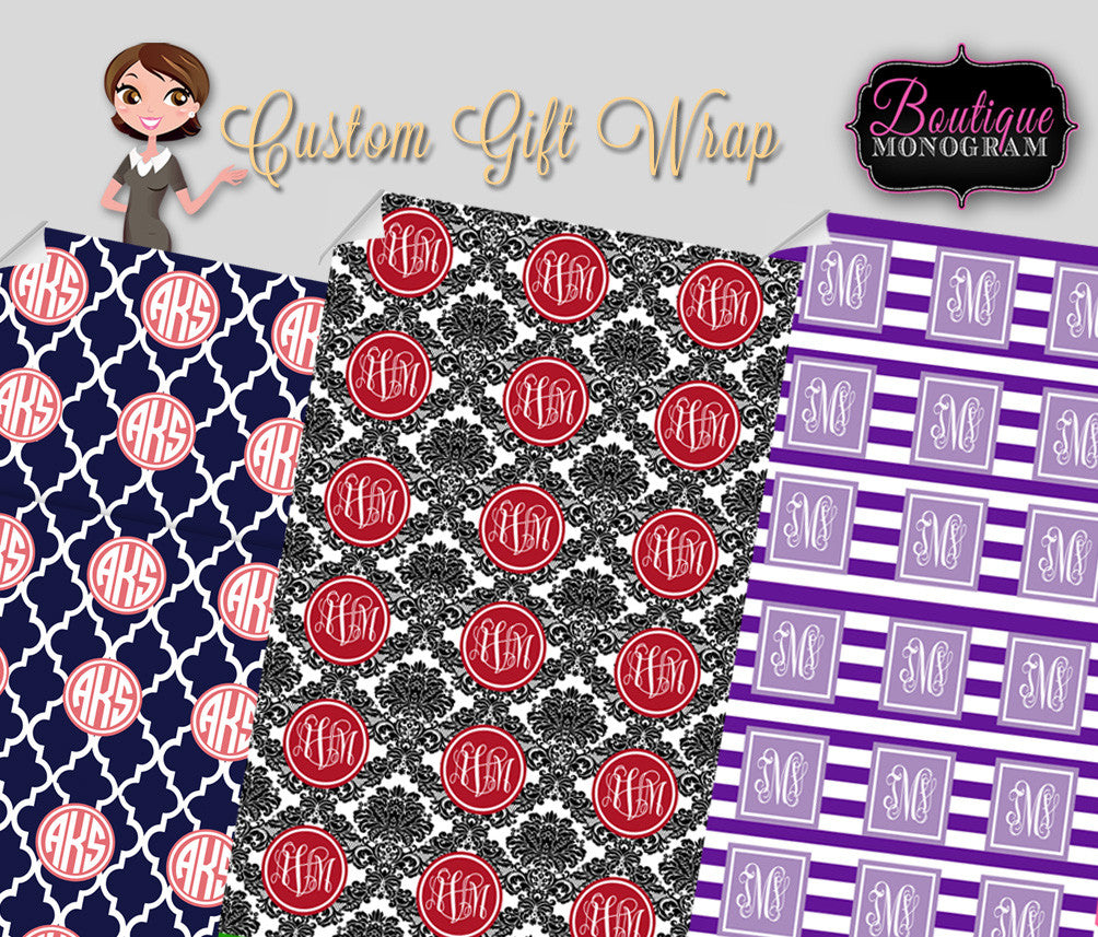 Personalized Gift WrapBoutique Monogram