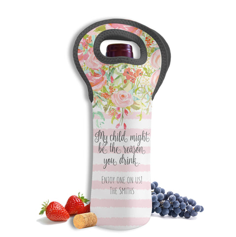 Teacher Wine Bottle Tote-Trellis Collection-Boutique Monogram