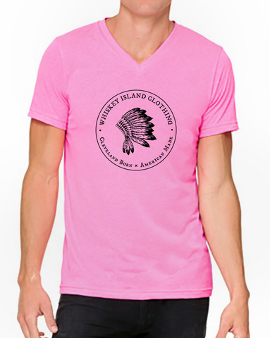 Whiskey Island Classic Unisex Neon V-Neck - Whiskey Island Clothing