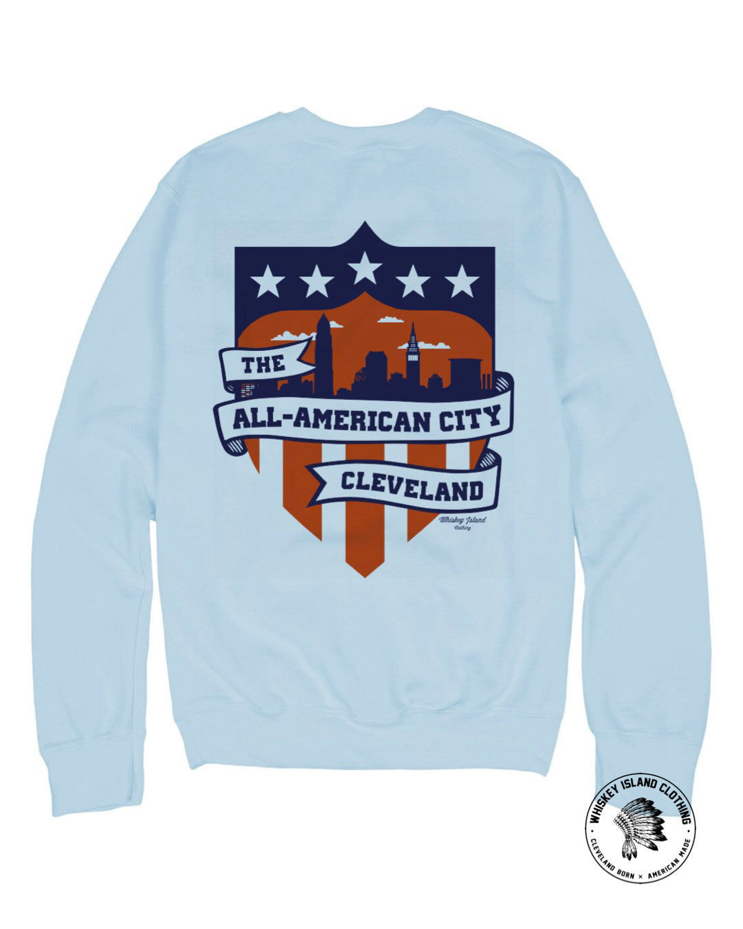 All American City of Cleveland - Unisex Sweatshirt - Whiskey Island Clothing