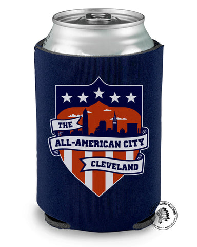 All American City Cleveland Koozie - Whiskey Island Clothing