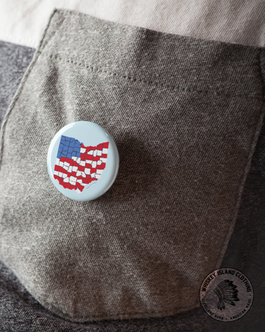 American Ohio - Pin - Whiskey Island Clothing