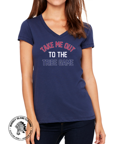 Tribe Game Ladies Cotton V Neck - Whiskey Island Clothing