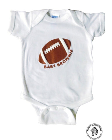 Baby Brownie White Onesie - Whiskey Island Clothing