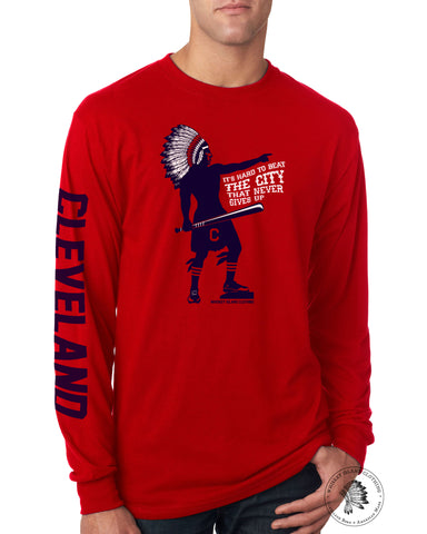 Baseball Chief Red Long Sleeve - Whiskey Island Clothing