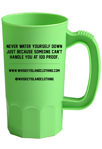 Whiskey Island Party Mug - Neon Green - Whiskey Island Clothing