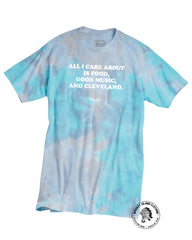 Food Music Cleveland Tie Dye Tee - Whiskey Island Clothing