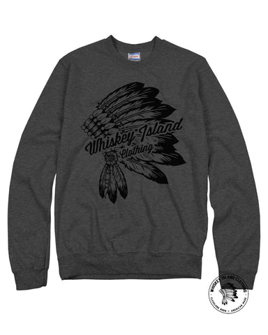 Headdress Script Unisex Sweatshirt - Whiskey Island Clothing