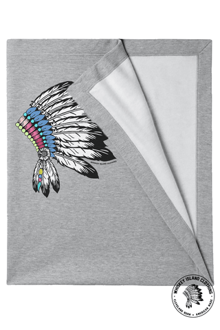 Headdress - Stadium Blanket - Grey - Whiskey Island Clothing