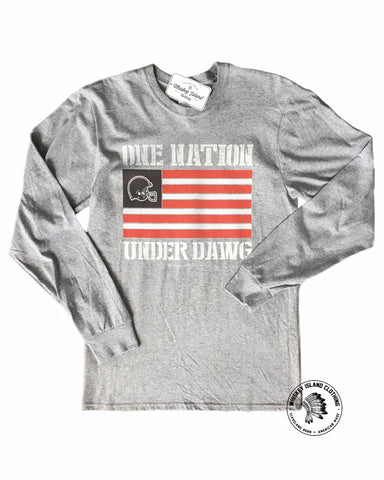 One Nation Under Dawg Unisex Long Sleeve Tee - Whiskey Island Clothing