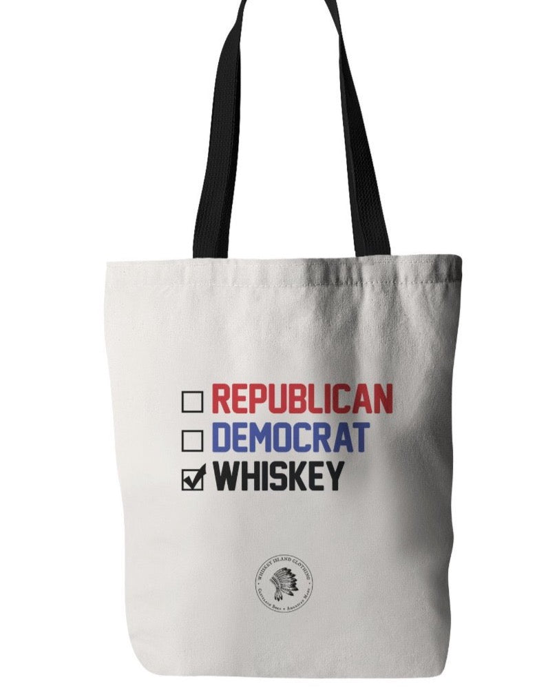 VOTE Whiskey - Canvas Bag - Whiskey Island Clothing