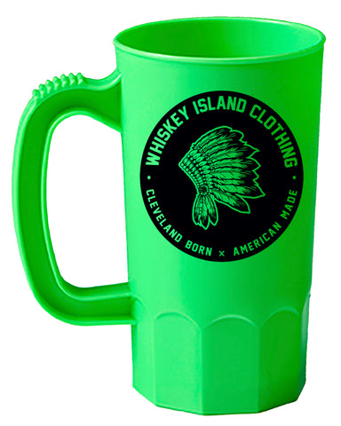 Whiskey Island Bright Green Party Mug