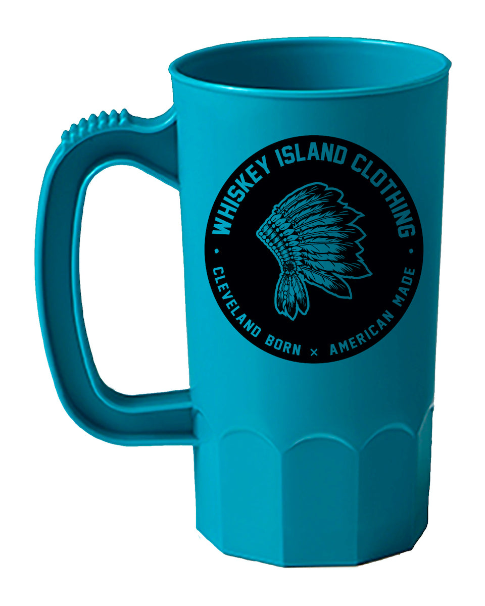 Whiskey Island Teal Blue Party Mug - Whiskey Island Clothing