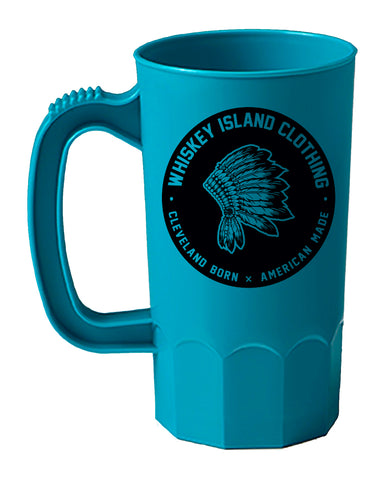 Whiskey Island Teal Blue Party Mug