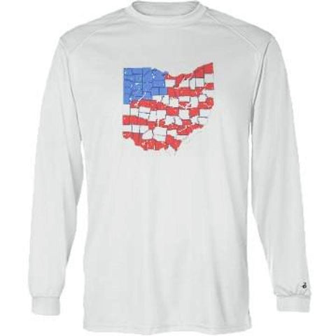 American Ohio - Performance Long Sleeve - Whiskey Island Clothing