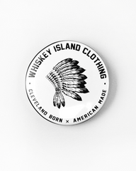 Classic Logo Button - Whiskey Island Clothing