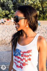 American Ohio - Crop Top Tank - Whiskey Island Clothing