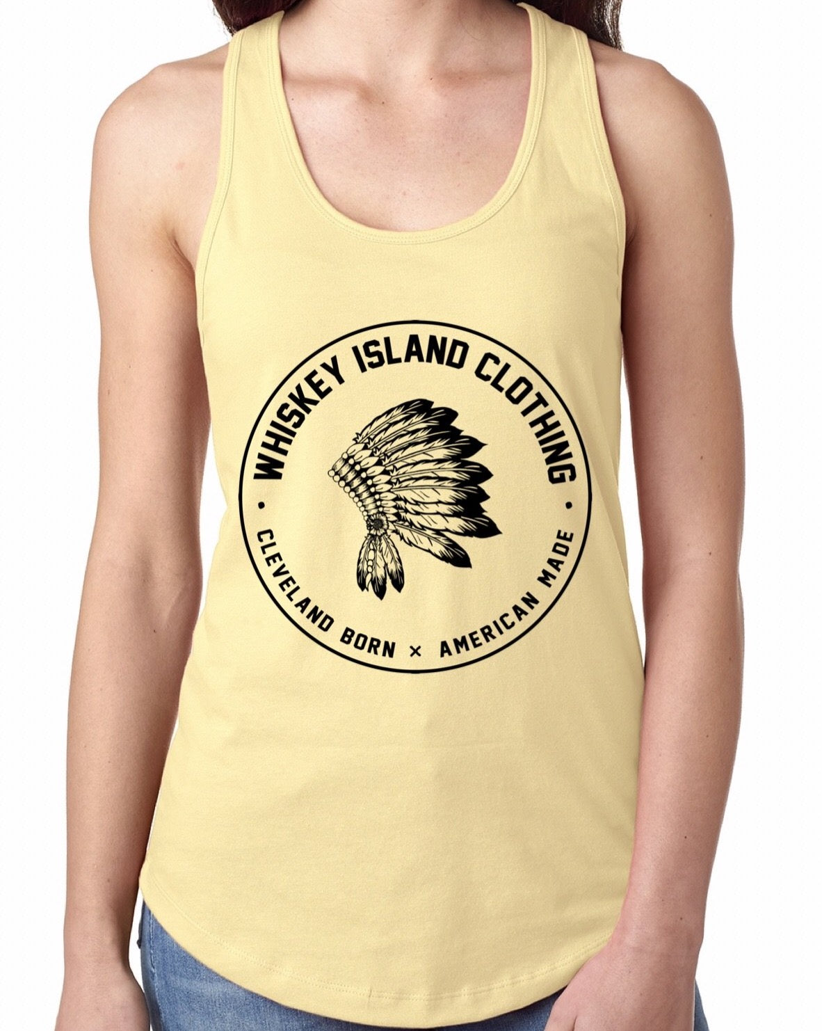 Whiskey Island Classic Yellow Racerback - Whiskey Island Clothing