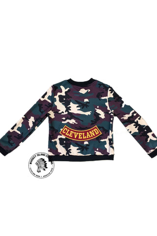 Women's Camouflage Cleveland Rocker Lightweight Zip Up - Whiskey Island Clothing