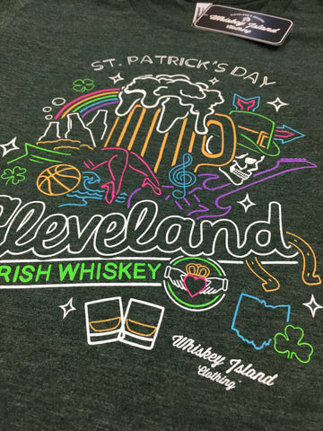Cleveland St Patrick's Day Unisex Tee - Whiskey Island Clothing