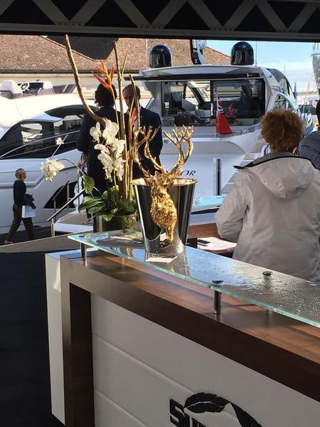 Greeting guests at the Southampton Boat Show