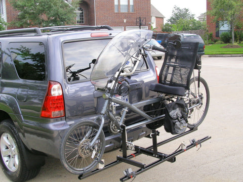 One Recumbent & One Regular Bike Non-Tilt-Up Hitch Rack