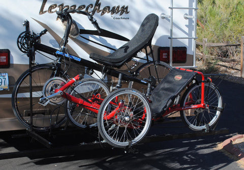 One Trike Plus One Regular or Tandem Hitch Rack