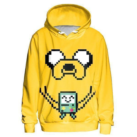 3D Cartoon Hoodie, Yellow-Hoodies-Sweatshirts-Online-L-Yellow-LeStyleParfait.Com