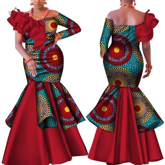 African Dress, Elegant Dashiki Dress-Dress-LeStyleParfait.Com