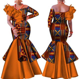 African Dress, Kitenge Dress Dress LeStyleParfait.Com XS Orange