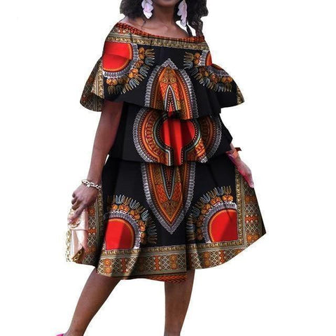 African Dress, Plus Size Dress-Dress-LeStyleParfait.Com