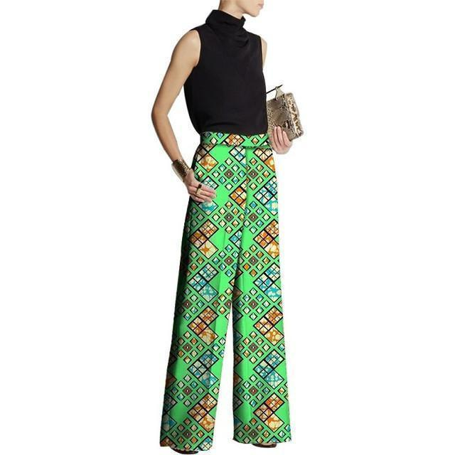 African Fashion Design Pants Women Loose Pants Ladies Dashiki Print Trousers African Clothes-Women Pants-LeStyleParfait.Com