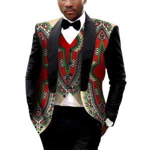 African Mens Blazer and Vest Custom/Tailor Made Plus Blazer Red-Blazer-LeStyleParfait.Com