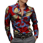 African Men's Shirts Kitenge Dashiki Shirt-Shirt- African-Clothing-LeStyleParfait.Com