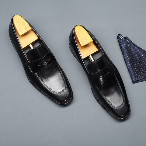 Alfredo Leather Penny Loafer Shoes For Men-Shoes-Online-LeStyleParfait.Com