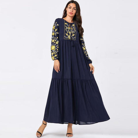 Always Ready Long Sleeve Maxi Dress-Dress-LeStyleParfait.Com