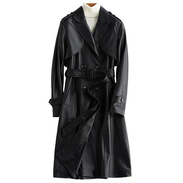 Angel Trench Coat For Women, Leather-Coat-LeStyleParfait.Com