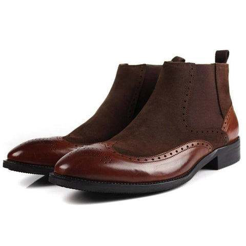 Ankle Boots Men's Leather Bootkes Dress Shoes-Shoes-LeStyleParfait.Com