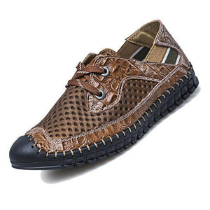 Casual Shoes For Men, Breathable Genuine Leather, Fashion Patchwok Shoes-Shoes-LeStyleParfait.Com