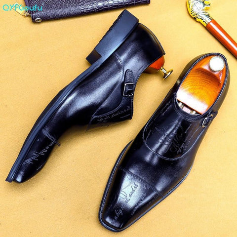 Cencio Monk Strap Oxford Shoes For Men-Shoes-Online-LeStyleParfait.Com