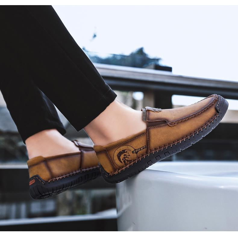 Changing Times Leather Loafers-Shoes-LeStyleParfait.Com