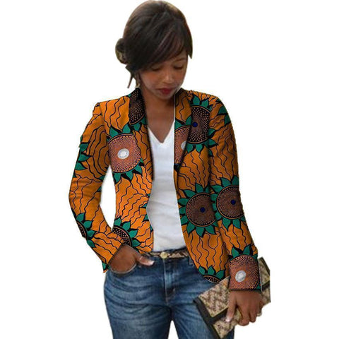 Chic Retro African Fashion Women Blazer Blazer LeStyleParfait.Com