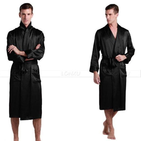 Classy Nights Mens Nightgown-Men's Sleepwear-LeStyleParfait.Com