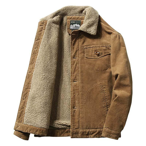 Corduroy Winter Jacket For Men- Autumn, Clothing, Corduroy, Fall, Jackets, Men, Men's, Men's Jackets, Plus Size, Winter-LeStyleParfait.Com