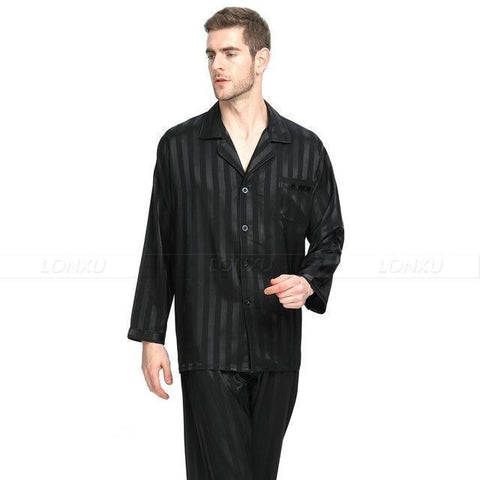 Cozy Stripes Men's Pajamas Set-Men's Sleepwear-LeStyleParfait.Com