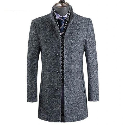 DiCaprio Wool Winter Coat For Men-Coat-LeStyleParfait.Com