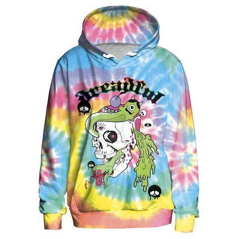 Dreadful Rainbow Girl Hoodie-Hoodies-Sweatshirts-Online-L-3D Print-LeStyleParfait.Com
