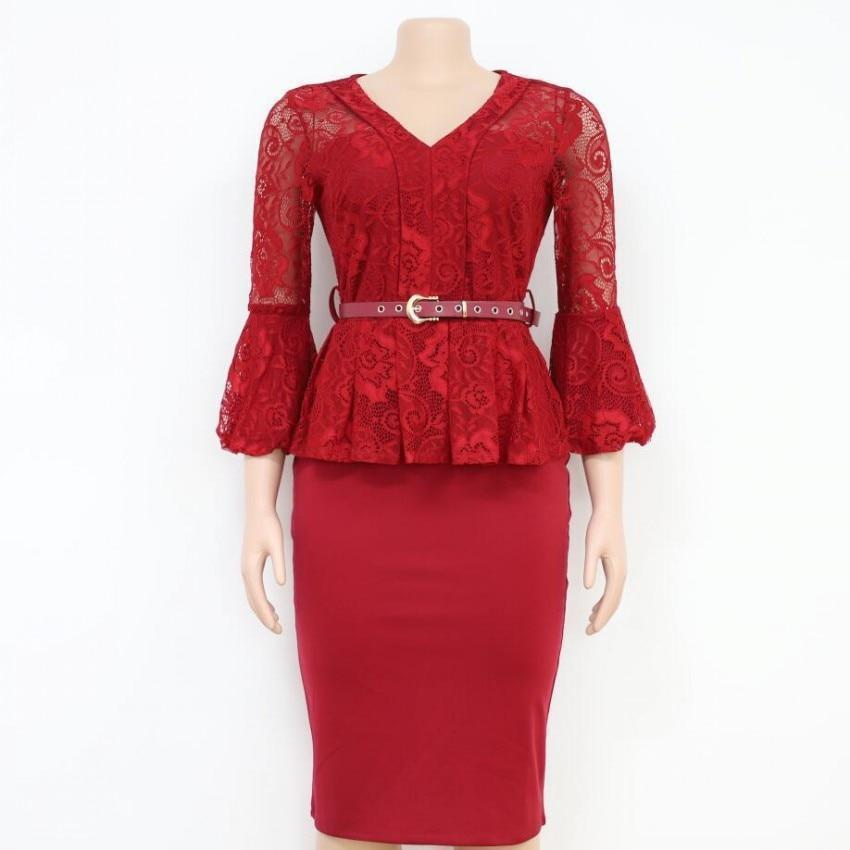 Dress - Women Lace Dress Plus Size-Dress-LeStyleParfait.Com