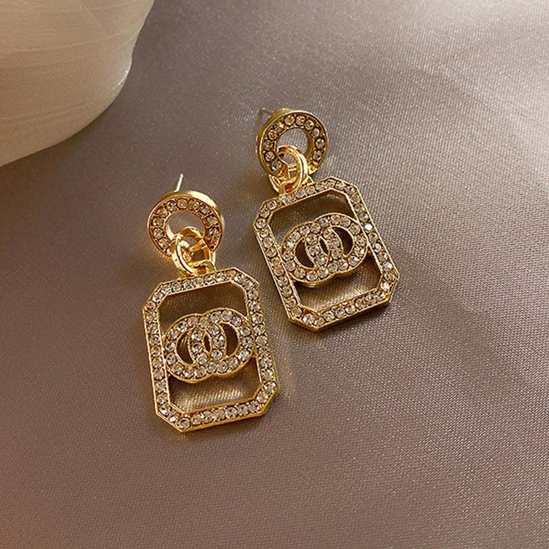 Drop Earrings Gold & Silver For Women-Earrings-Online-LeStyleParfait.Com