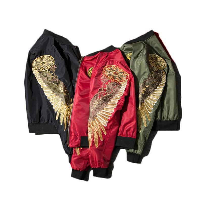 Eagle Wings Bomber Jacket-Jacket-LeStyleParfait.Com